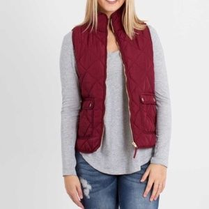 Thread & Supply Quilted Zip Up Vest, Small